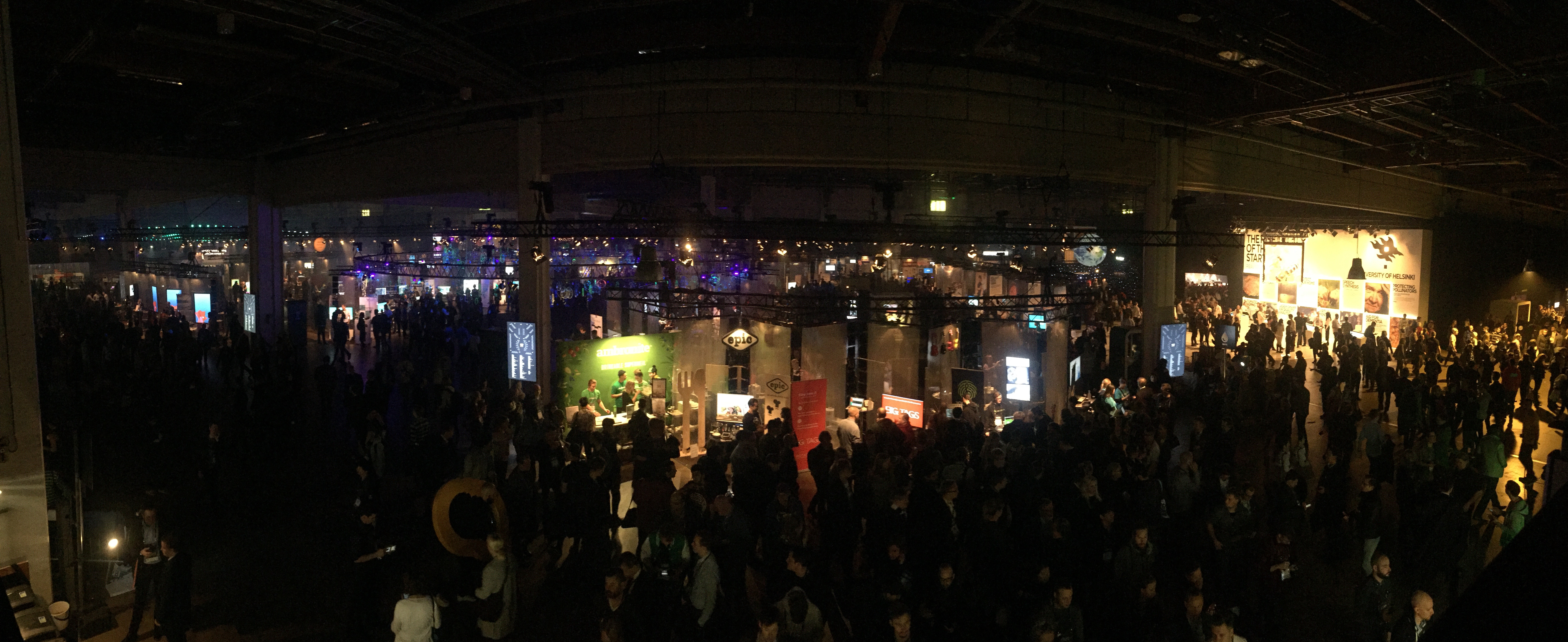 View of attendees at Slush conference